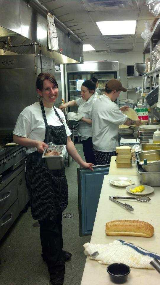 At work in the kitchen at Nose Dive