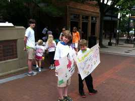 The lemonade stand raised $700 for the Red Cross Tornado Relief effort.
