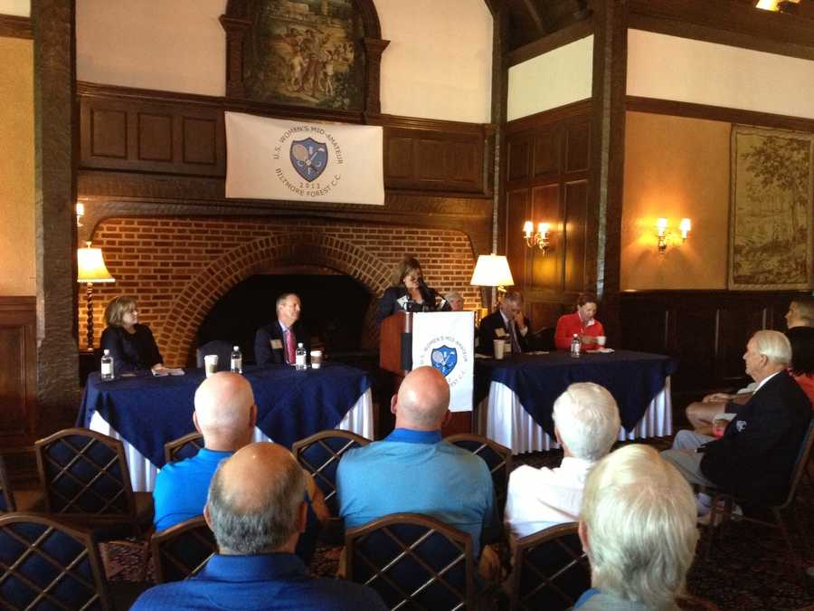 The US Women's Mid-Amateur Championship will be held at Biltmore Forest Country Club October 5th - 10th. These are pictures from the announcement today and pictures of the course.