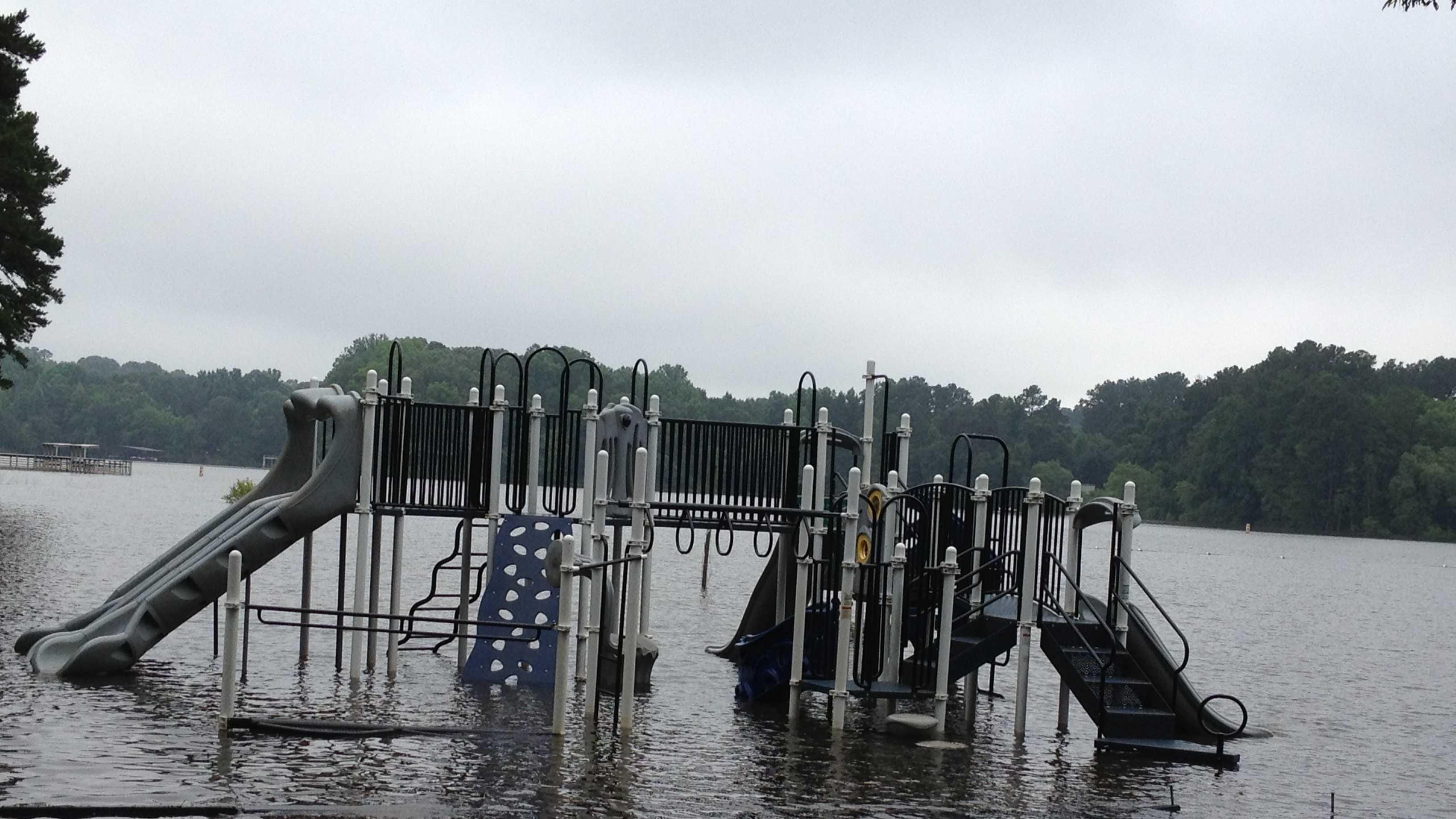 Darwin Wright Park flooded 1