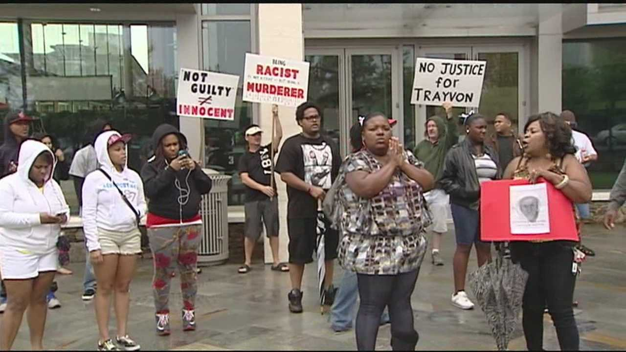 A peaceful protest took place Sunday in response to the George Zimmerman verdict that was handed down late Saturday night.