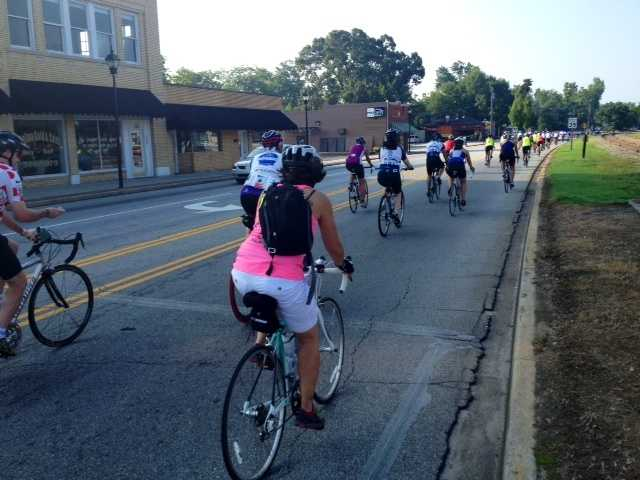 "The Alzheimer's Association 5th Annual ""A Ride to Remember"" Friday morning in Greenville. This year they have a record 100 riders participating and they've already raised nearly $100,000 for the Alzheimer's Association!"