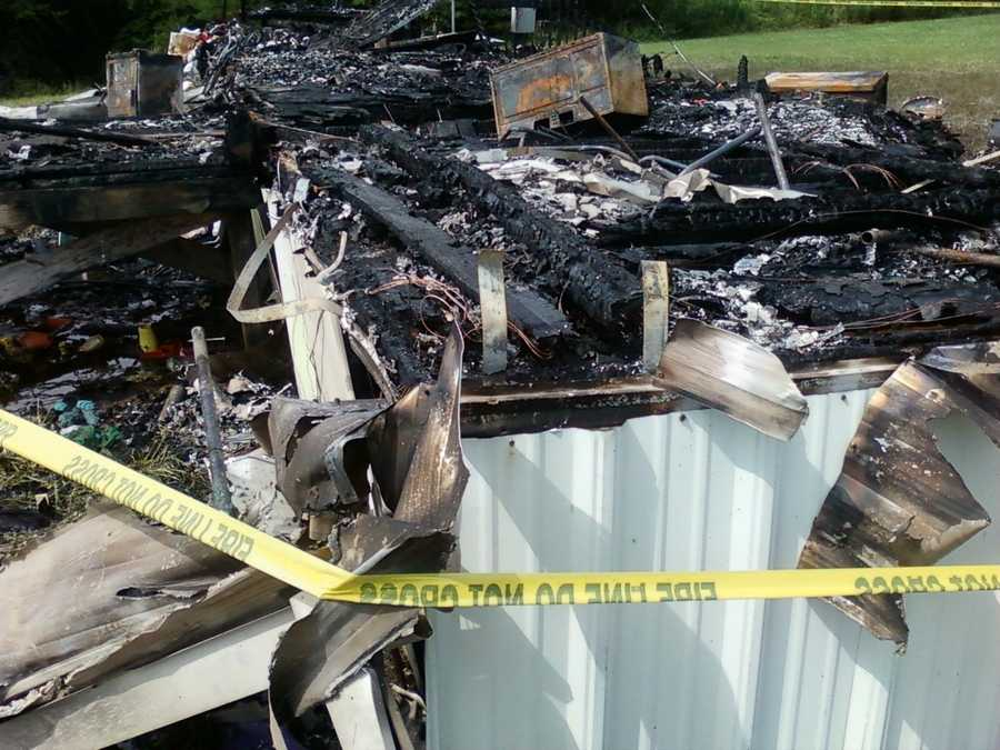 Mobile home fire kills two children, ages 4 and 7.