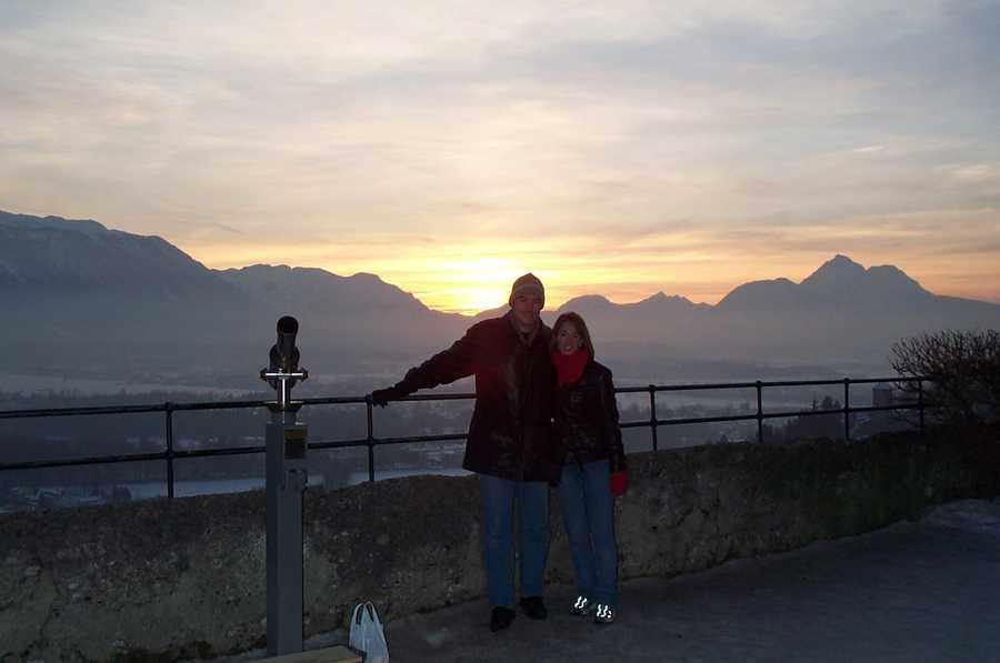 Beth hates cold weather, but for some reason chose to honeymoon in the Austrian Alps in January!