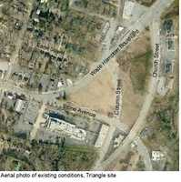 The Stone Avenue plan includes development as far east as the triangle at the end of Wade Hampton Boulevard.