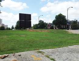 This empty lot on Stone and Main will be the site of a mixed residential and commercial development by The Beach Company.