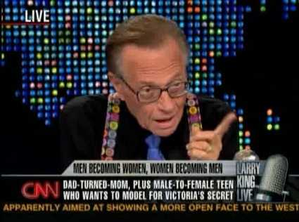 Larry King, talk show host
