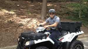 Officer on patrol in Falls Park