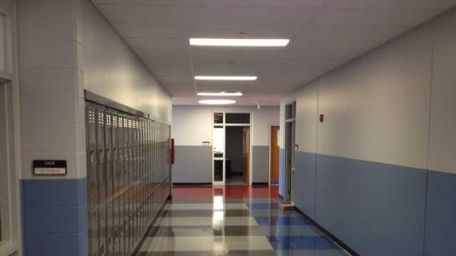 Woodmont High School hallway