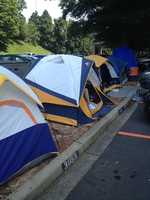 Many students started camping out Friday to be the first in line.