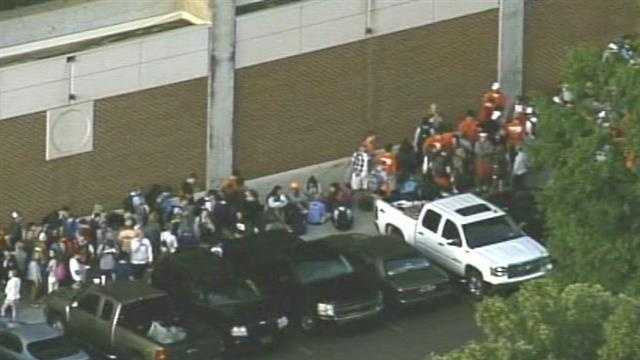 Tickets to the Clemson-Georgia football game were distributed Monday morning to students. This was a look at the line from Sky 4 minutes before the ticket distribution started.