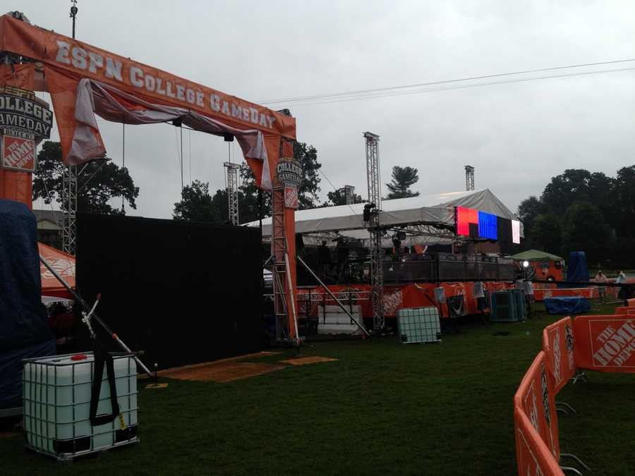 ESPN GameDay is airing live from Clemson this weekend. Click through to see pictures.