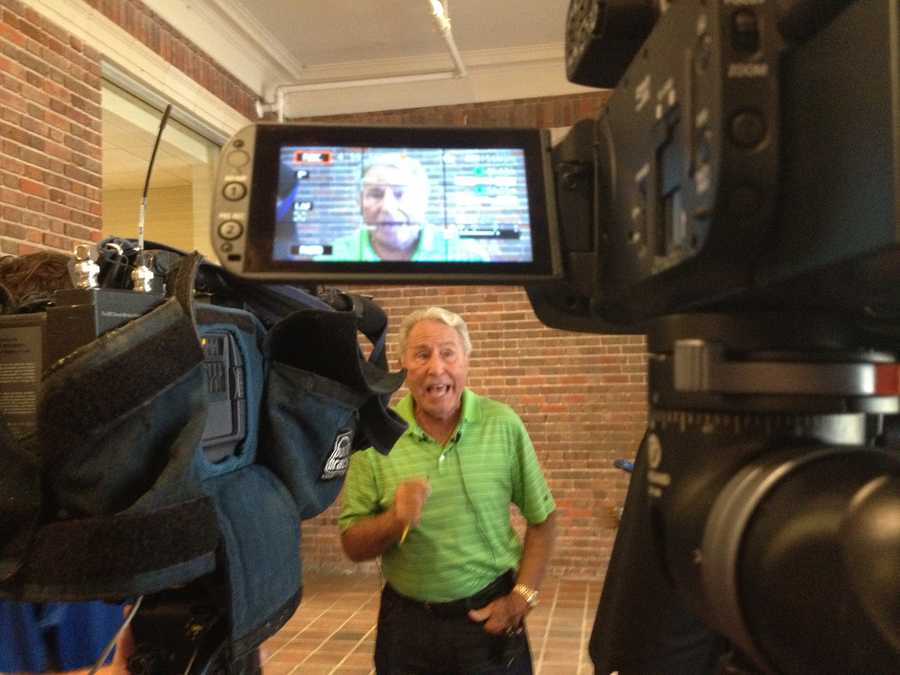 Mandy Gaither got a chance to talk to Lee Corso, one of the GameDay hosts.