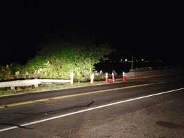 This was the scene on the side of Highway 24 early Tuesday morning.