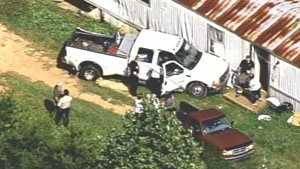 truck into mobile home
