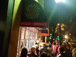 The night ended at Luna Rosa Gelato Cafe. The crowd learned that the cafe does more than gelato, it offers fresh soups and Italian favorites like lasagna.