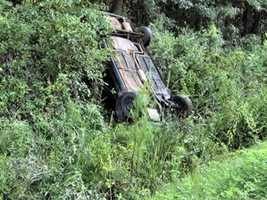 The fourth most common fatal wrecks involved vehicles going into ditches.