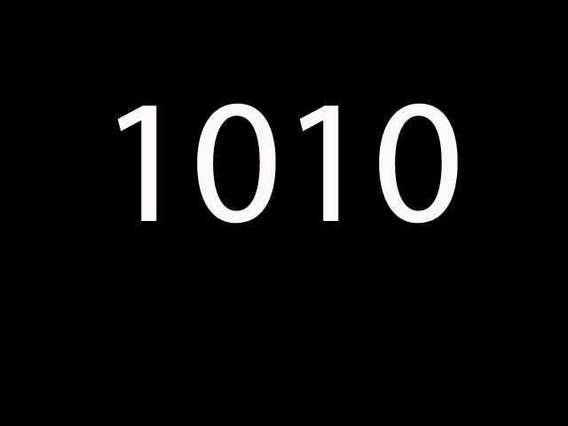 Twentieth most common: 1010