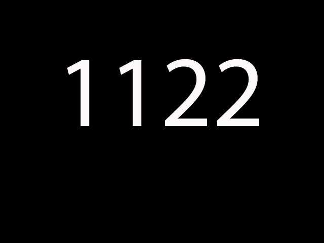Fifteenth most common: 1122