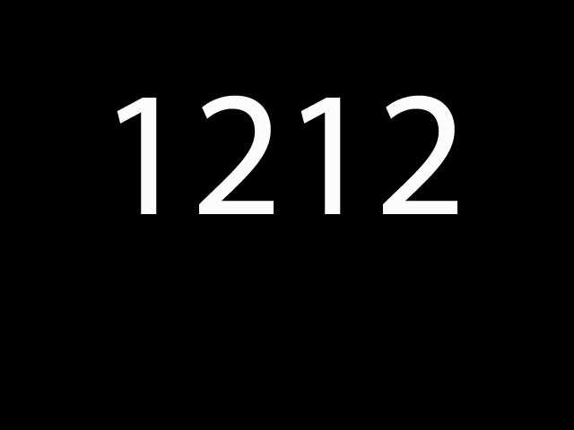 Fourth most common: 1212
