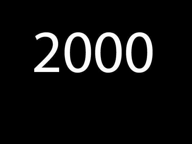 Seventh most common: 2000
