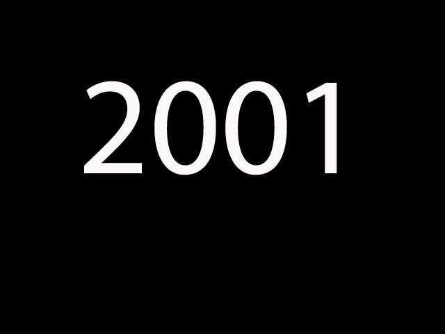 Nineteenth most common: 2001