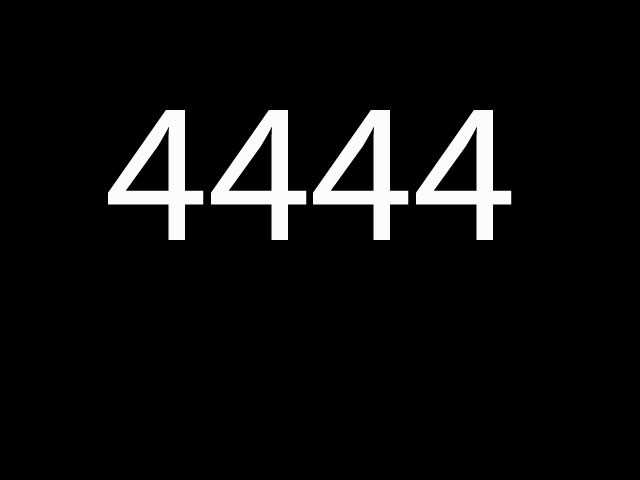 Eighth most common: 4444