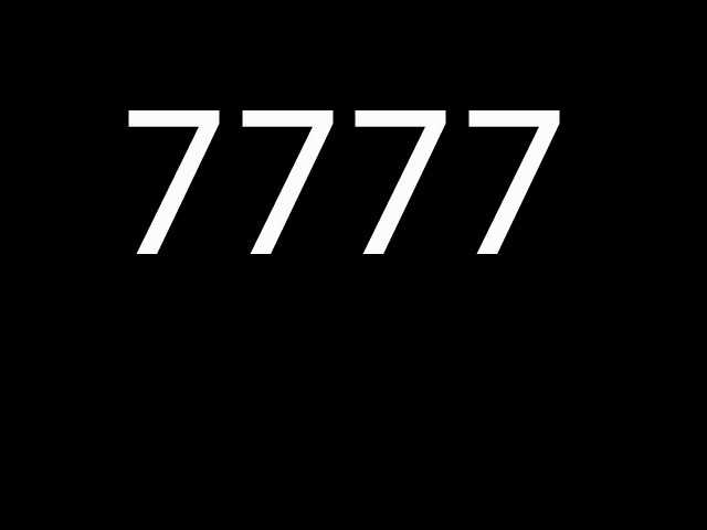 Fifth most common: 7777