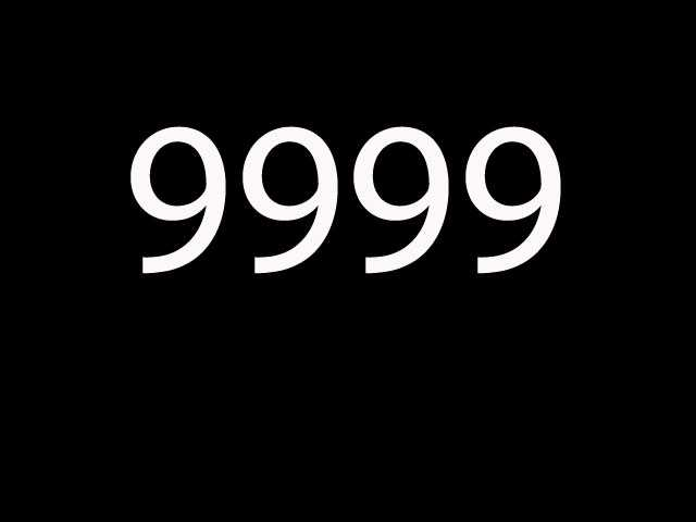 Eleventh most common: 9999