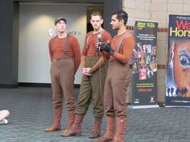 One of the puppeteers said his background in sports and martial arts combined with his theater experience all contributed to what he brings to War Horse.