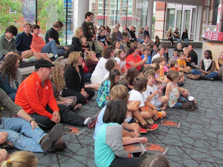 The audience was intrigued by both Joey, and the background of the puppeteers who bring him to life.