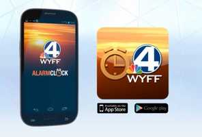 The WYFF News 4 alarm clock app is available on iTunes and Google Play.