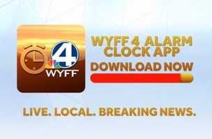 Make sure to download the WYFF News 4 Alarm Clock app today.   App Store: http://on.wyff4.com/1a4Mw7o  Google Play: http://on.wyff4.com/1ac25QH