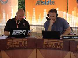 ESPN radio is also broadcasting from Clemson.