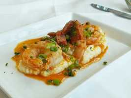 Shrimp and grits at High Cotton