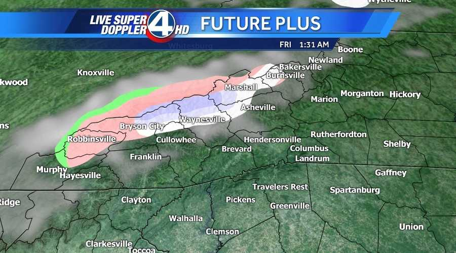 No accumulation is expected except maybe in the grassy areas in the High Country.