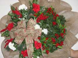 This wreath from AC Moore is one of many silent auction items to benefit InDwellings, Inc.