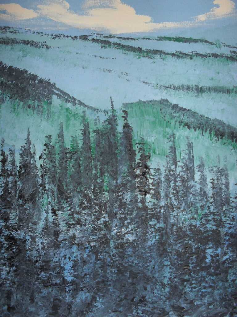 "Original painting ""High Mountain"" Charles Anderson special needs artist"