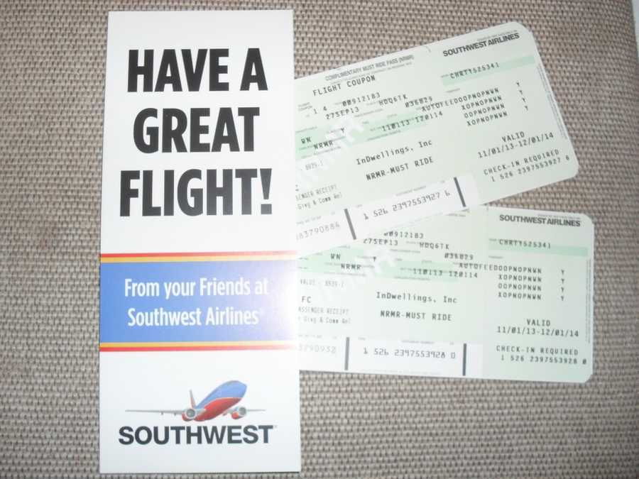 Pair of Southwest Airlines tickets
