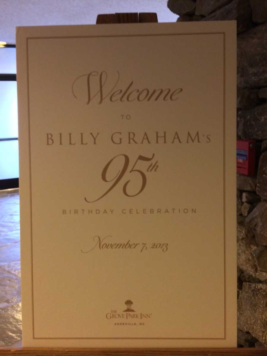 Billy Graham's 95th birthday celebration was held Thursday at the Grove Park Inn in Asheville. Click HERE to read more or keep clicking for some behind the scenes pictures from the WYFF News 4 crews.