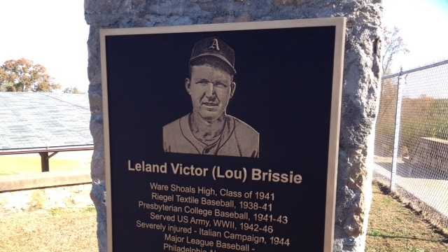 The baseball field at Riegel Stadium in Ware Shoals in renamed Lou Brissie Field