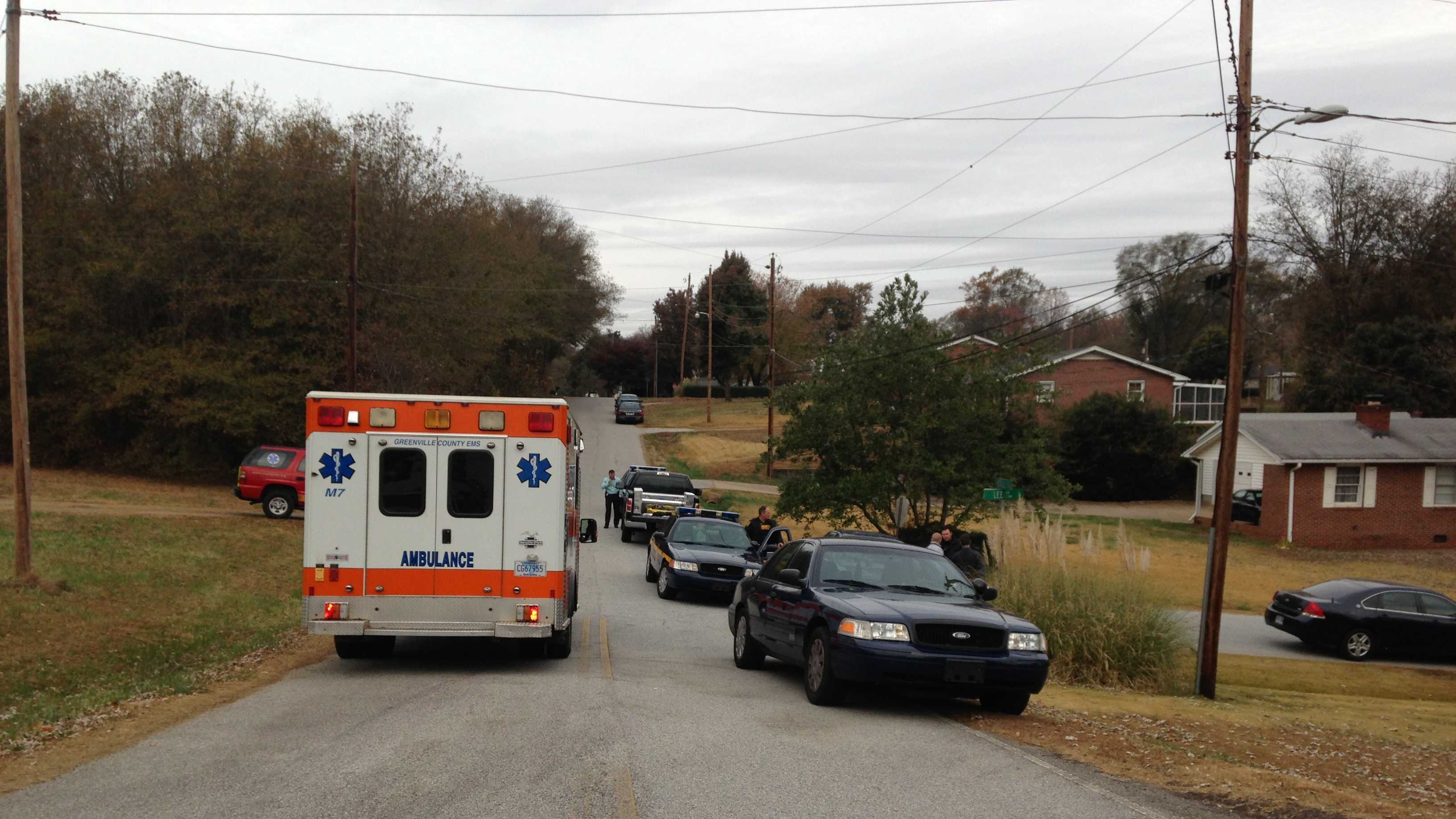 EMS and SWAT units at the scene on Crest Street in Greer.