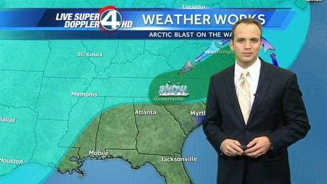 WYFF News 4 weather forecast for Upstate South Carolina and Western North Carolina.