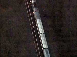 From Sky 4, you can barely see the location of the derailment.