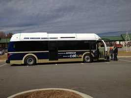 The city of Seneca just got 5 new electric buses.