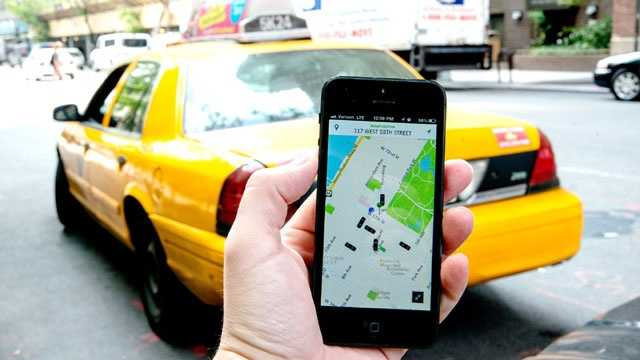 Uber, car taxi service app