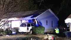 Simpsonville Car into house