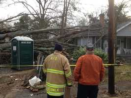 They said the house that had the most damage was undergoing renovations and no one was living there.