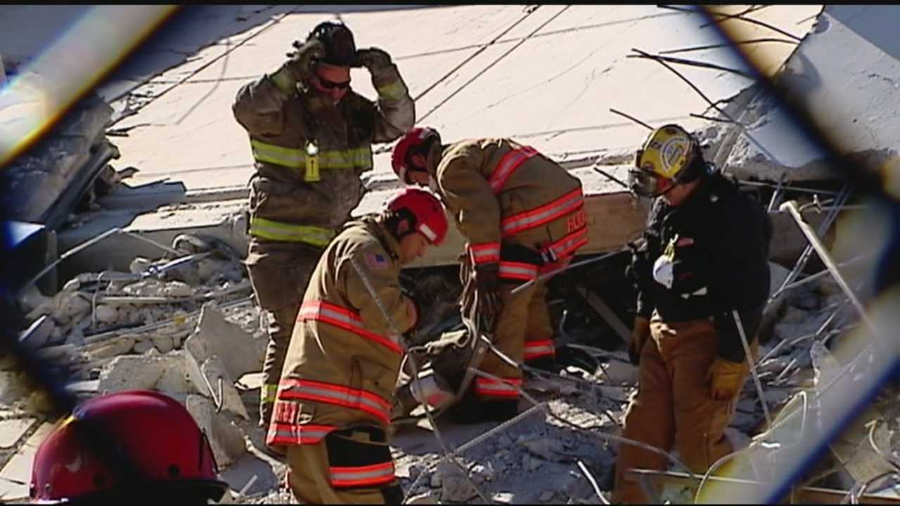 Emergency responders train for disaster in Scott Towers rubble