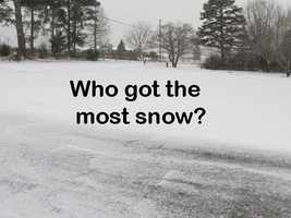 The totals across the state varied from less than an inch to 4 inches. Click through these slides (in alphabetical order by county) to see who got the most and least.